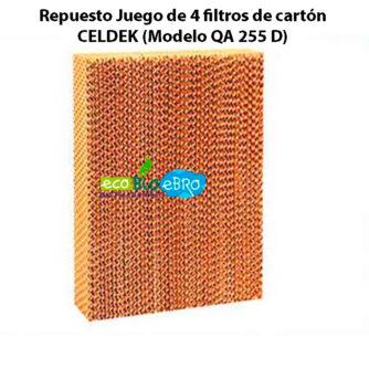 Repuesto-Juego-de-4-filtros-de-cartón-CELDEK-(Modelo-QA-255-D)-ecobioebro