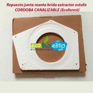 Repuesto junta manta brida extractor estufa  CORDOBA CANALIZABLE (Ecoforest)