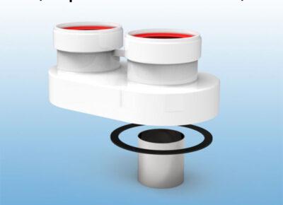 Adaptador-biflujo-de-Aluminio-de-Ø80-(compatible-calentador-HERMES)-ecobioebro