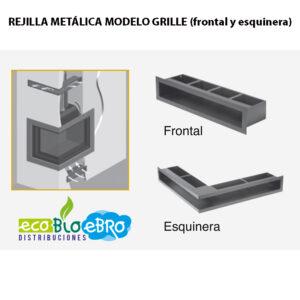 REJILLA METÁLICA MODELO GRILLE (frontal y esquinera)