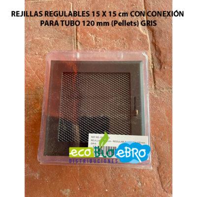 REJILLAS-REGULABLES-15-X-15-cm-CON-CONEXIÓN-PARA-TUBO-120-mm-(Pellets)-gris-ecobioebro