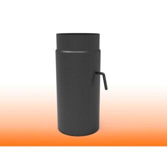 TUBO-CON-CORTATIRO-NEGRO-MATE-ACERO-VITRIFICADO-(MACHO-HEMBRA)-ecobioebro